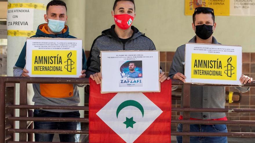 Activistas del Rif retenidos en el CIE de Murcia piden asilo político