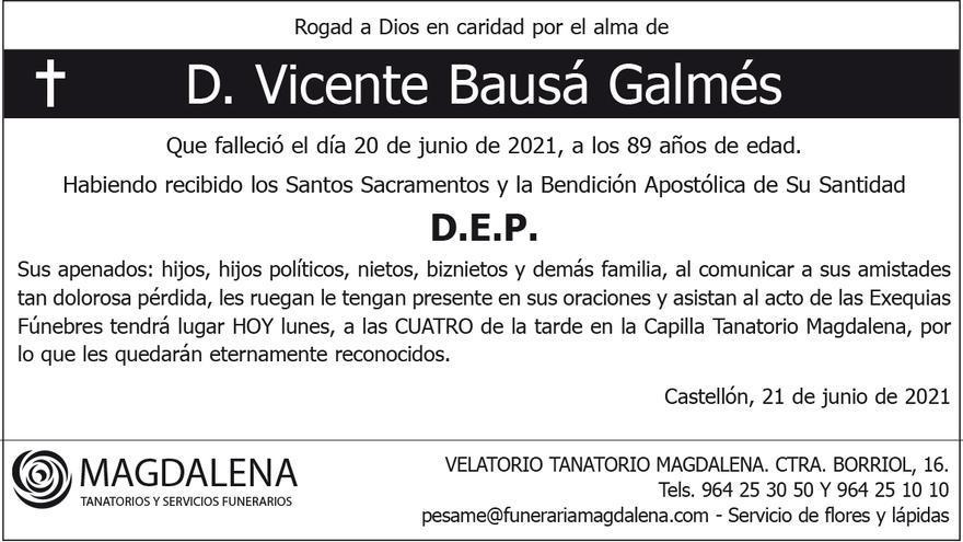 D. Vicente Bausá Galmés