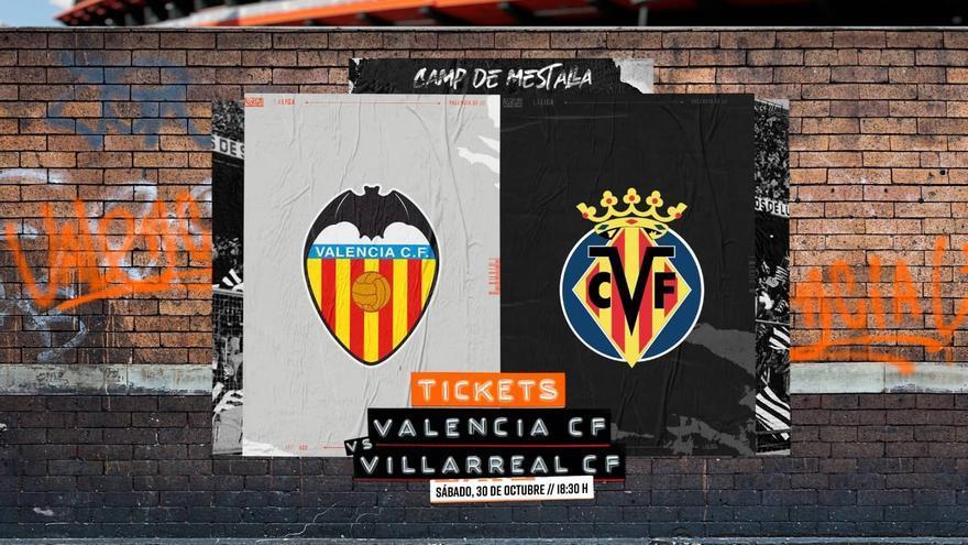 Precio de las entradas para el Valencia-Villarreal
