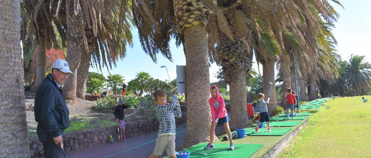 Un oasis para el golf en Lanzarote