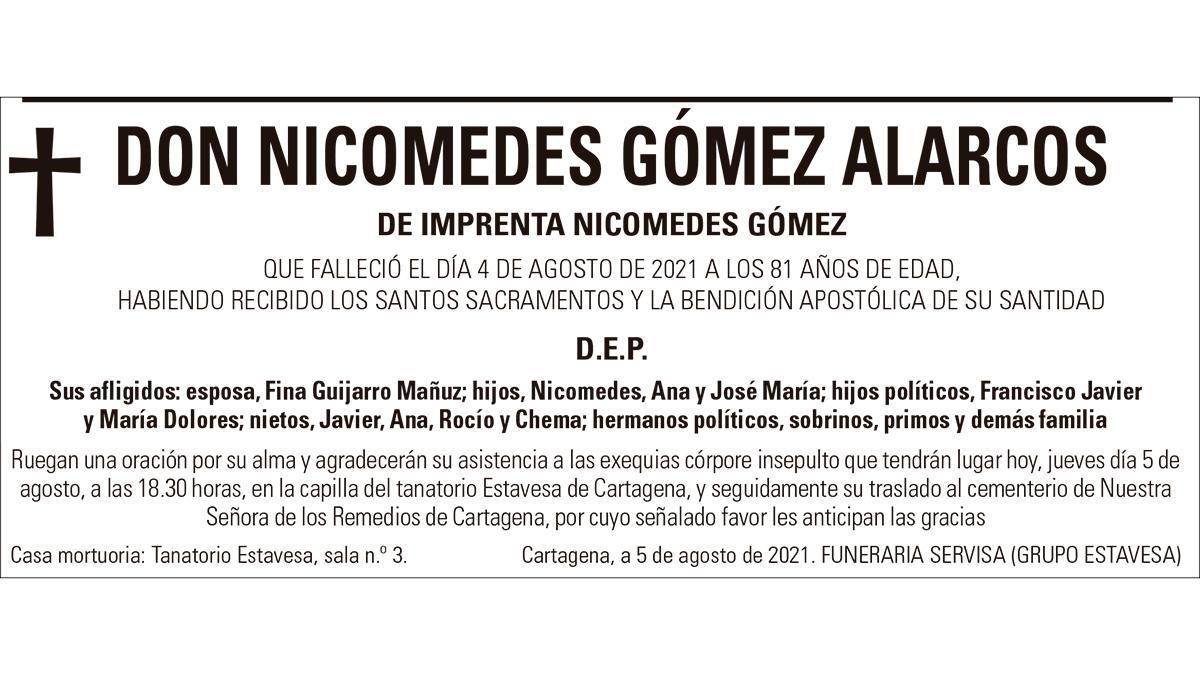 D. Nicomedes Gómez Alarcos