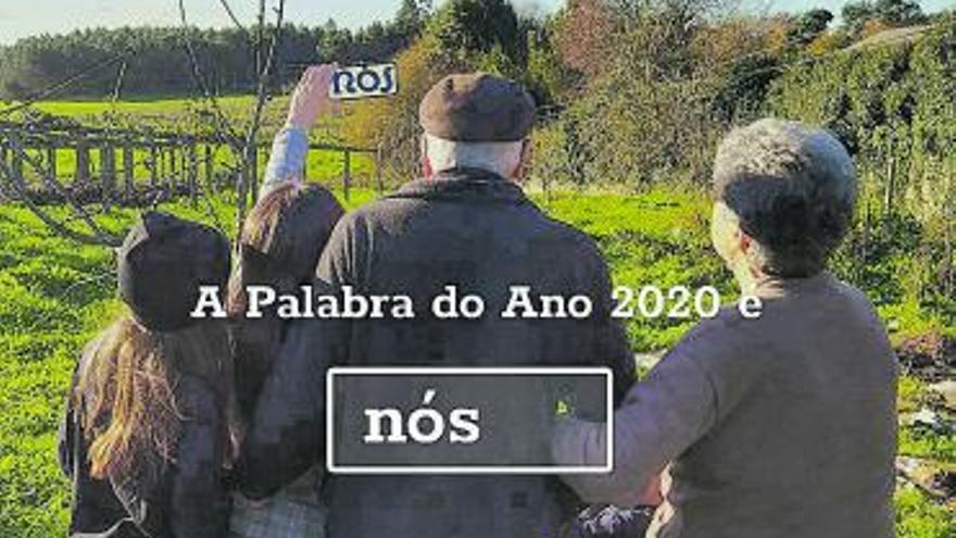 """""""Nós"""", elixida Palabra do Ano 2020 polos galegos"""