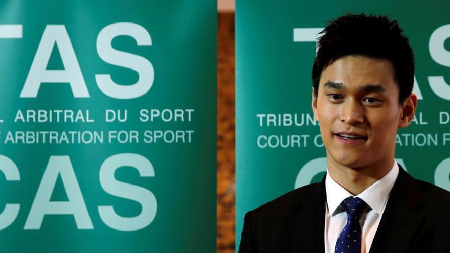 El TAS condena al nadador chino Sun Yang a ocho años fuera de la competición