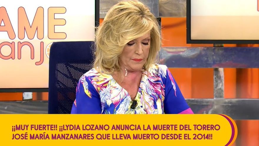 Lydia Lozano 'mata' a José Mari Manzanares, fallecido en 2014, y deja a Matamoros al borde del infarto