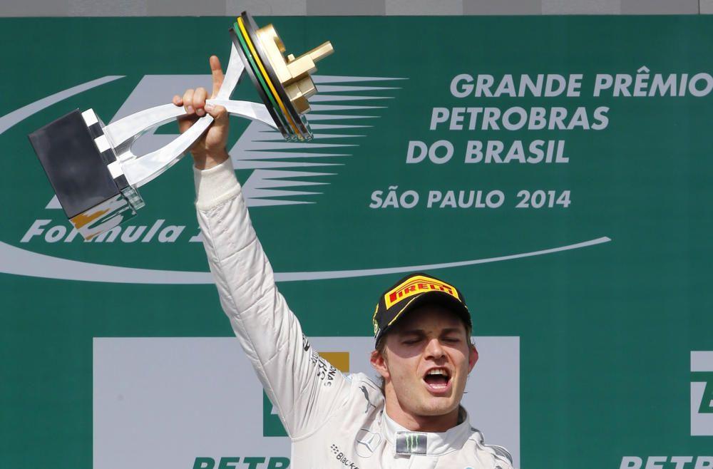 Winner Mercedes Formula One driver Nico Rosberg ...