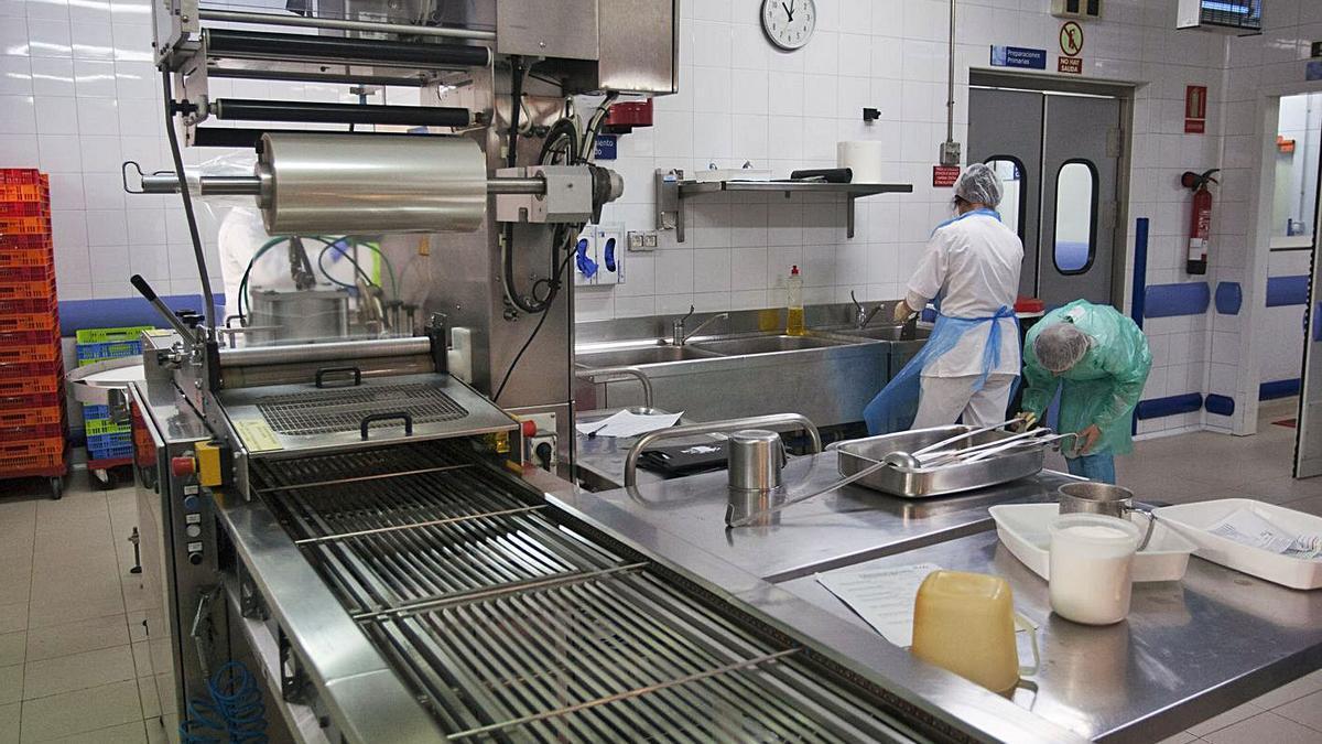 Cocina de Sacyl, en el Provincial.