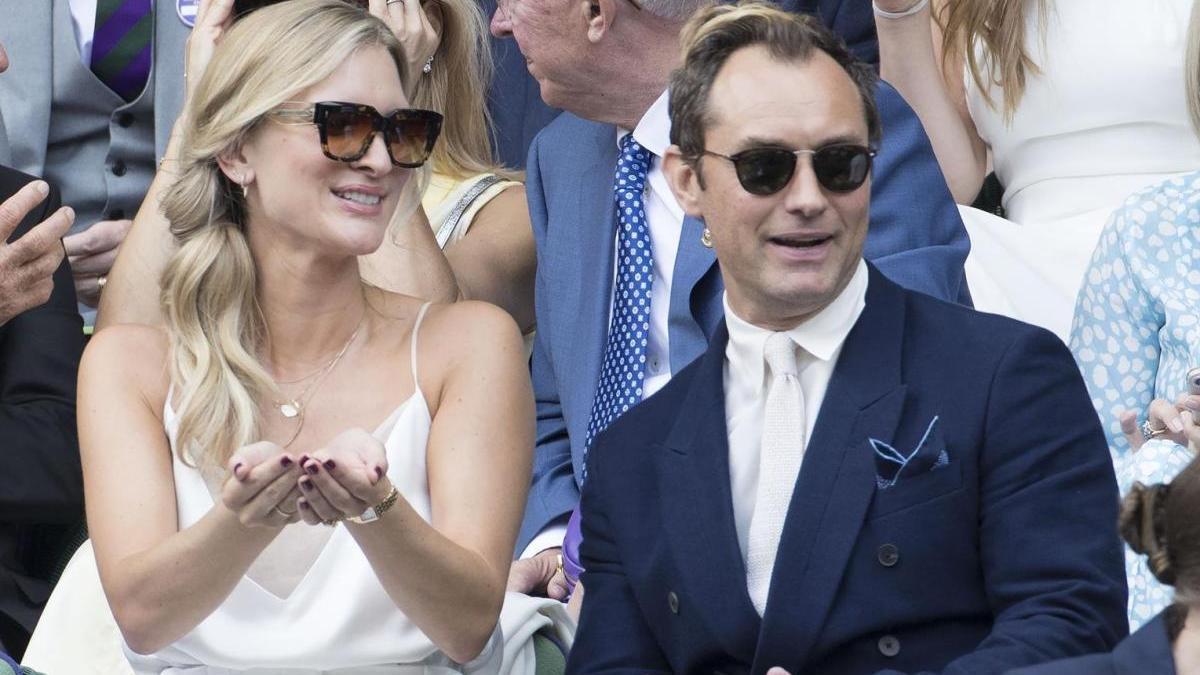 Jude Law y su pareja, Philippa Coan.
