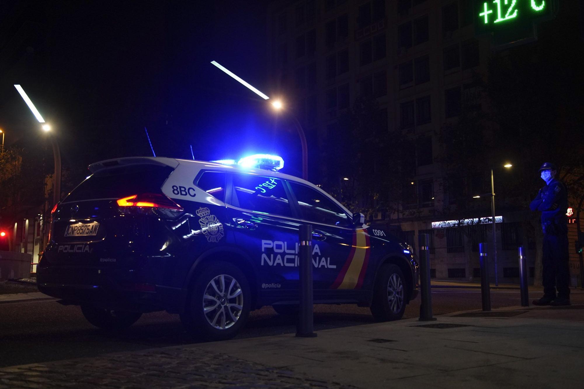 Así vigilan los Fuerzas y Cuerpos de Seguridad el primer toque de queda en Zamora