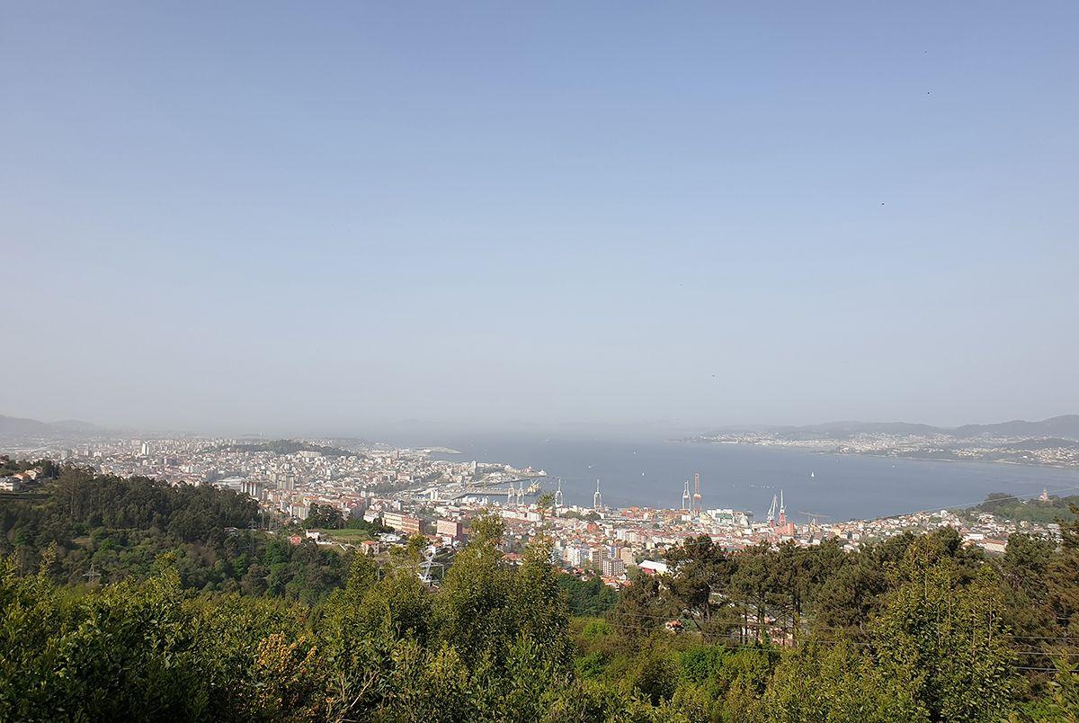 Calor y polvo sahariano en plena Semana Santa en Vigo
