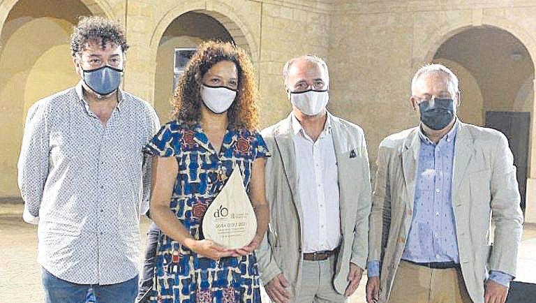 La presidenta del Consell de Mallorca, Catalina Cladera, junto a Antoni Gayà, Toni Fuster y Jaume Alzamora.