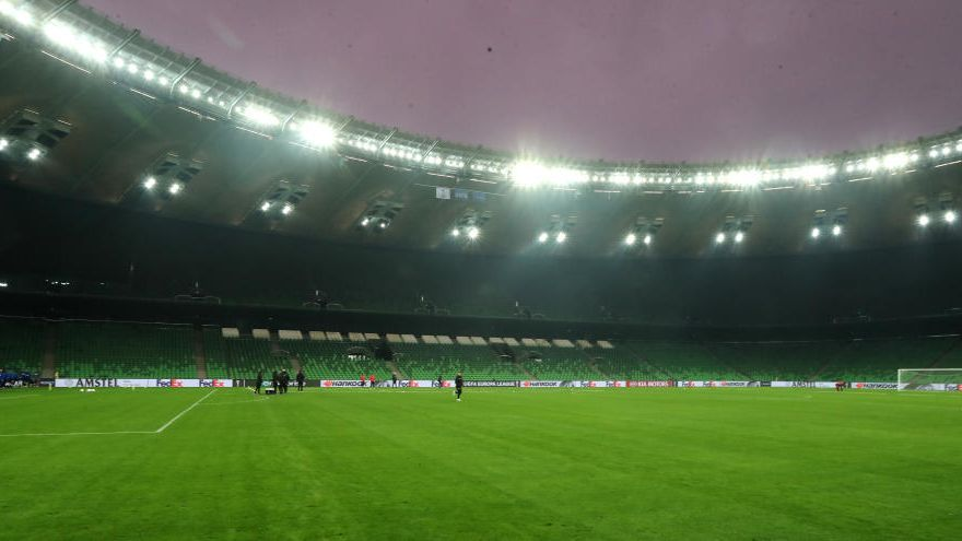 El Valencia CF pisa el césped del Krasnodar Stadium