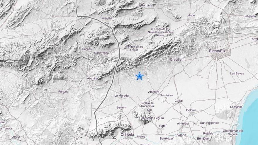 Un terremoto en Albatera (Alicante) se deja sentir en casi toda la Región