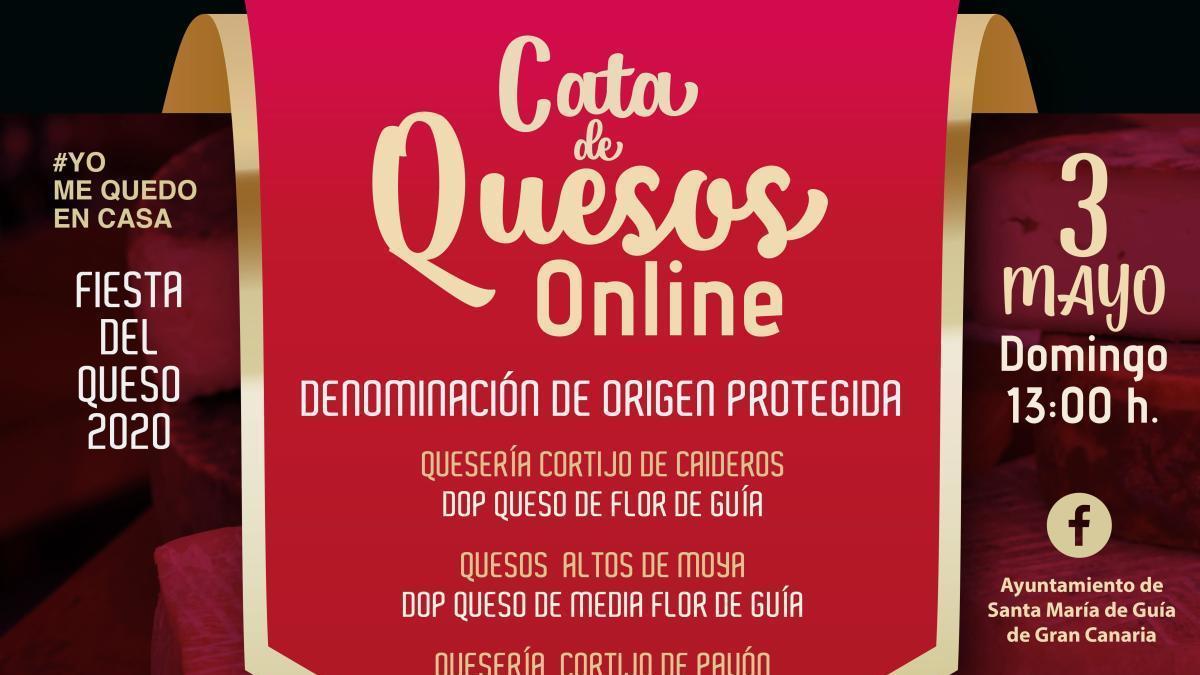 Cata de Quesos Online para descubrir la excelencia y singularidad del Queso de Guía a través de las redes sociales del Ayuntamiento y los medios locales