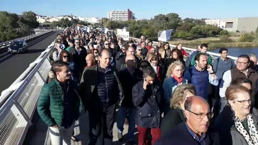 Manifestación de la plataforma Hospital Don Benito-Villanueva