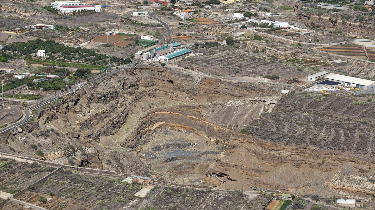 Vista de una de las zonas de extracción de áridos en Güímar, una de las mejores localizaciones para acoger una central.
