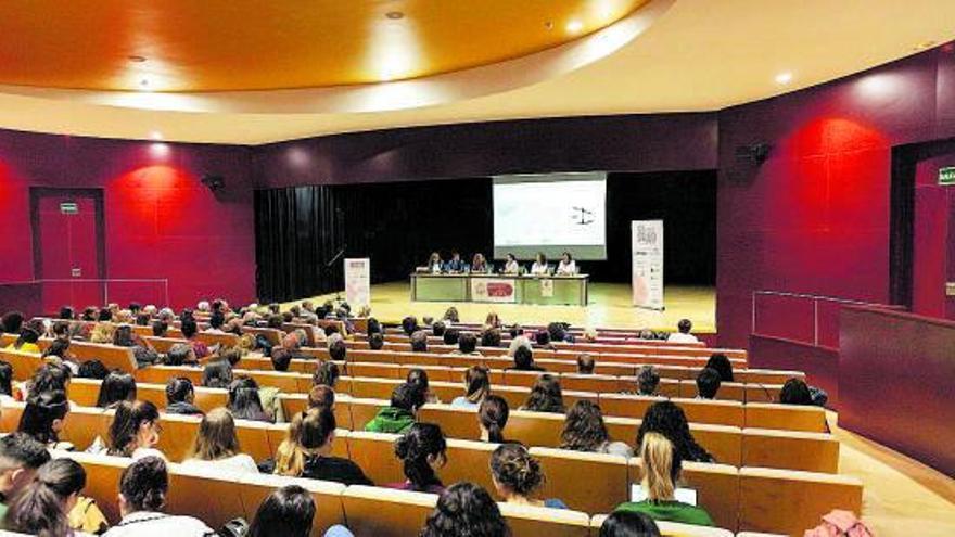 Jornada sobre el cáncer de mama celebrada el año pasado en el salón de actos del Campus Viriato. | Nico Rodríguez