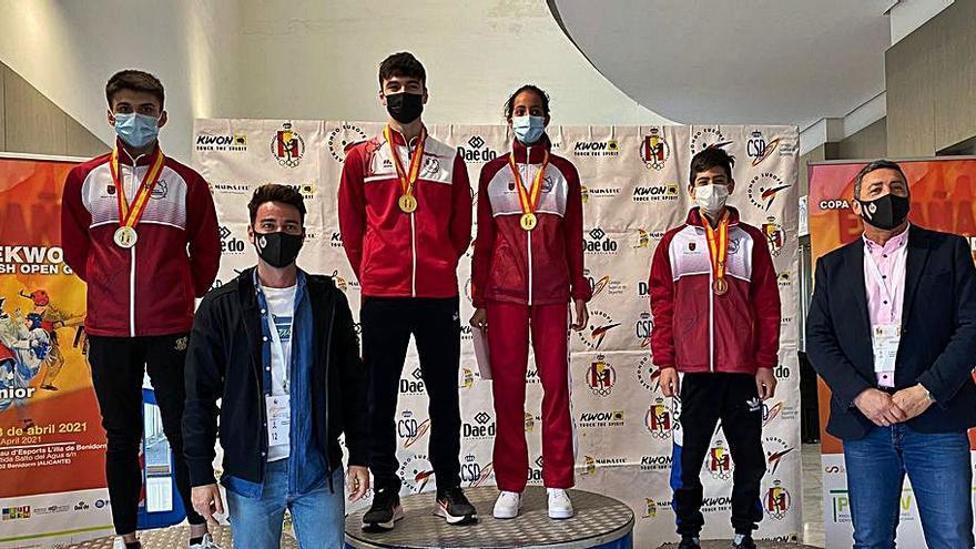 Cuatro medallas para los murcianos en la Copa de España de taekwondo