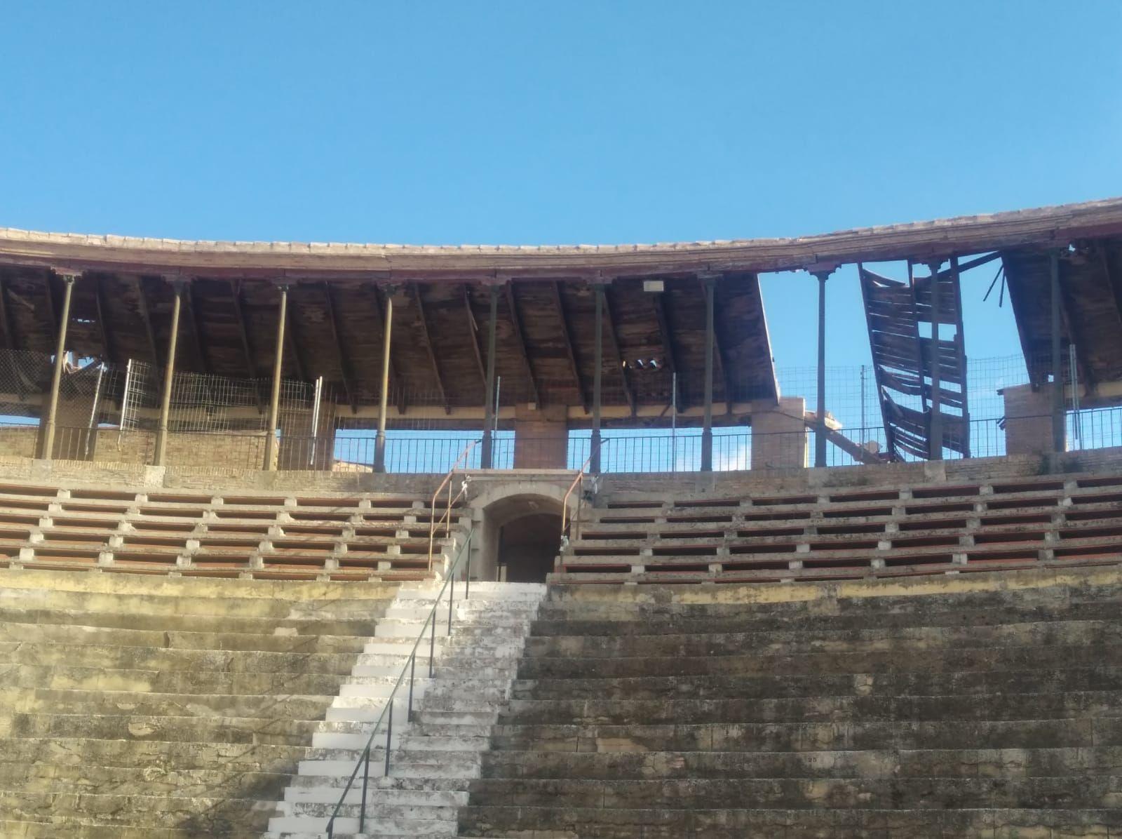 La plaza de toros de Utiel, en ruinas