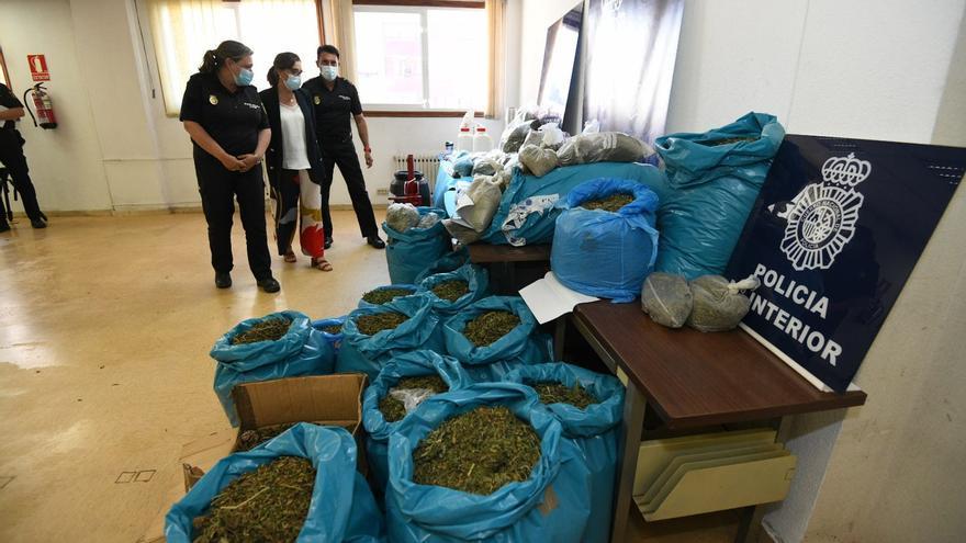Desarticulado un laboratorio en Meis con 110 kilos de marihuana y un kilo de heroína, cocaína y crack