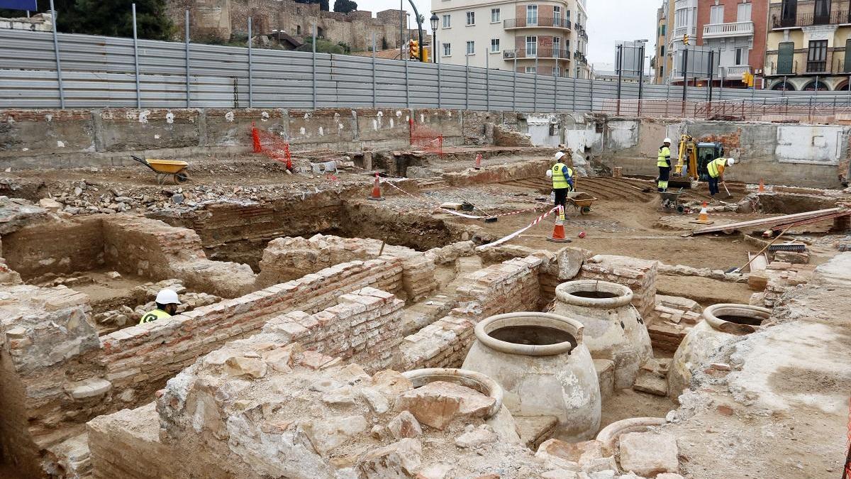 Imagen de los restos del subsuelo del Astoria.