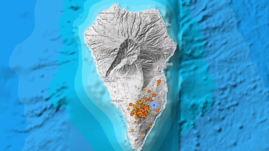 La Palma registra trece terremotos durante la noche, uno de magnitud 3.8