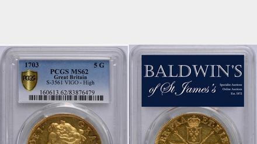 Dos monedas de 'Vigo', adjudicadas por más de un millón de euros en Londres