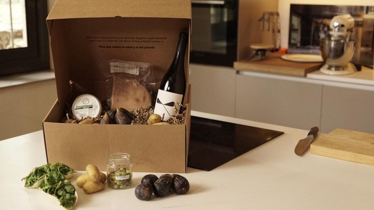 Una de las cestas del proyecto 'Gastronomía Sostenible' de BBVA y El Celler de Can Roca.