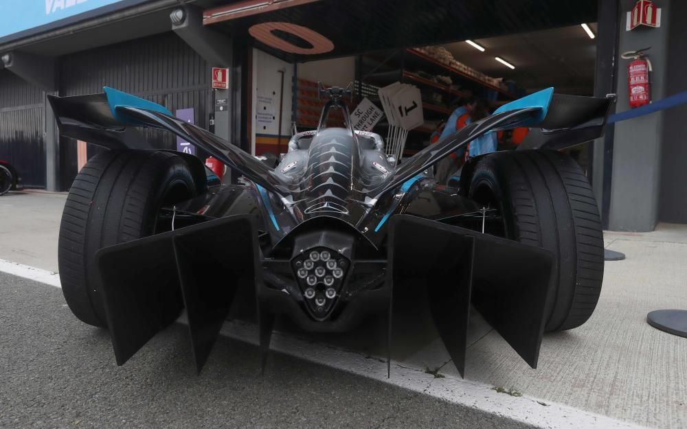 Boxes de la Formula E en Cheste