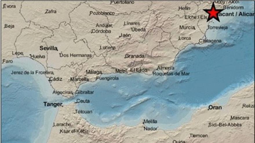 Mutxamel registra un terremoto de 1,6 grados esta madrugada