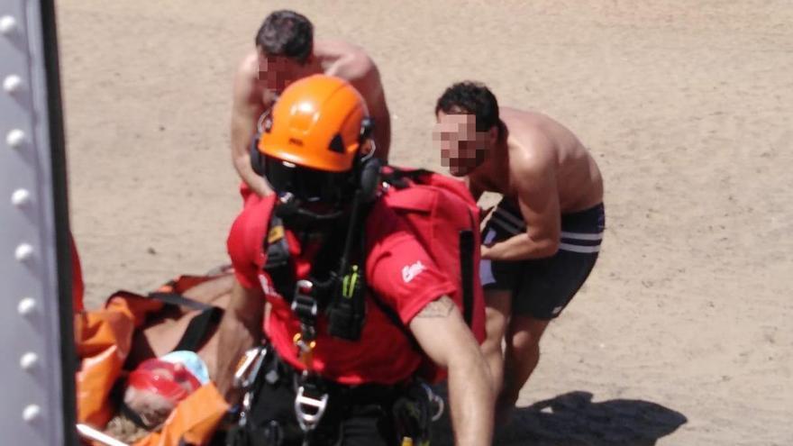 Rescatado un hombre de 70 años con signos de ahogamiento en Fuerteventura