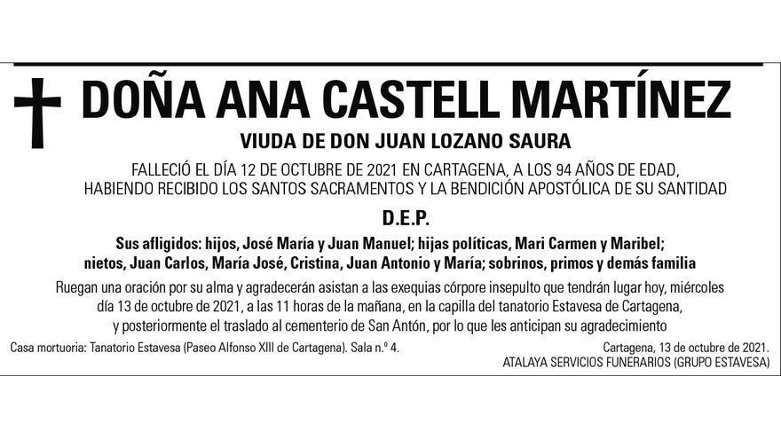 Dª Ana Castell Martínez
