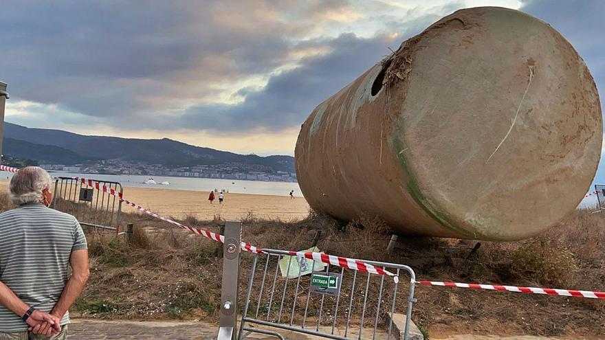 Este fue el inmenso tanque de agua hallado bajo las dunas de Praia América
