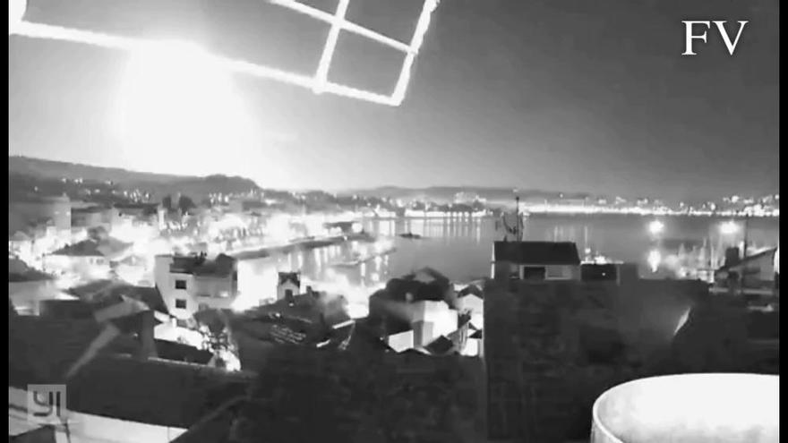 Un misterioso resplandor ilumina Galicia en plena madrugada