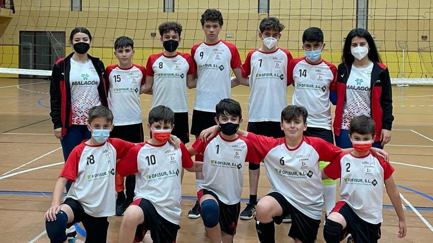 El Udenci y el Adecor Azul lucharán por las coronas andaluzas infantiles de voleibol