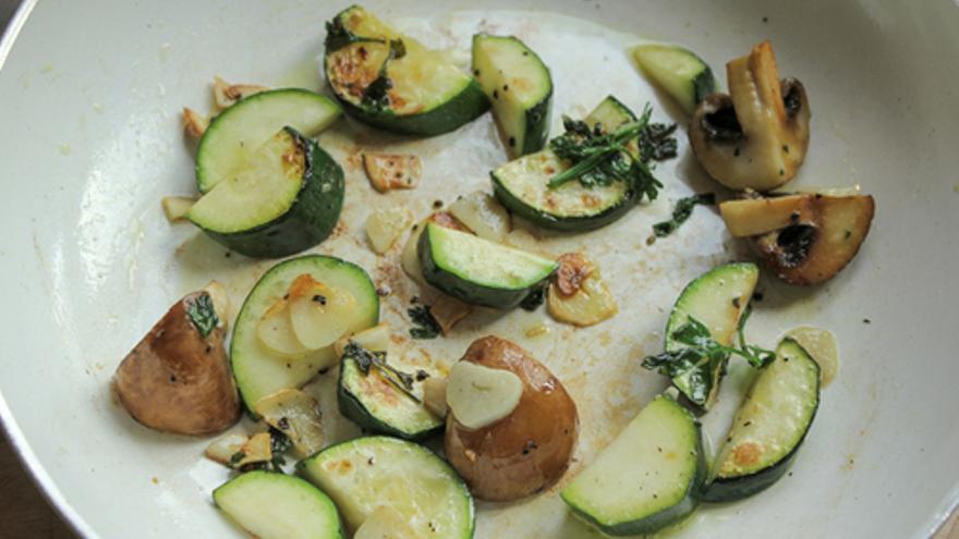 Zucchini mit Petersilie und Knoblauch