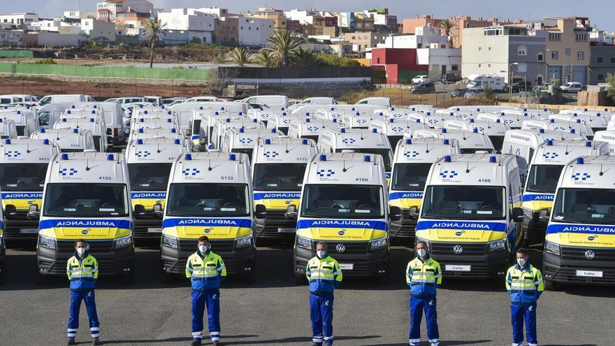 Presentación de nuevas ambulancias del Transporte Sanitario No Urgente en Gran Canaria (5/05/2021)