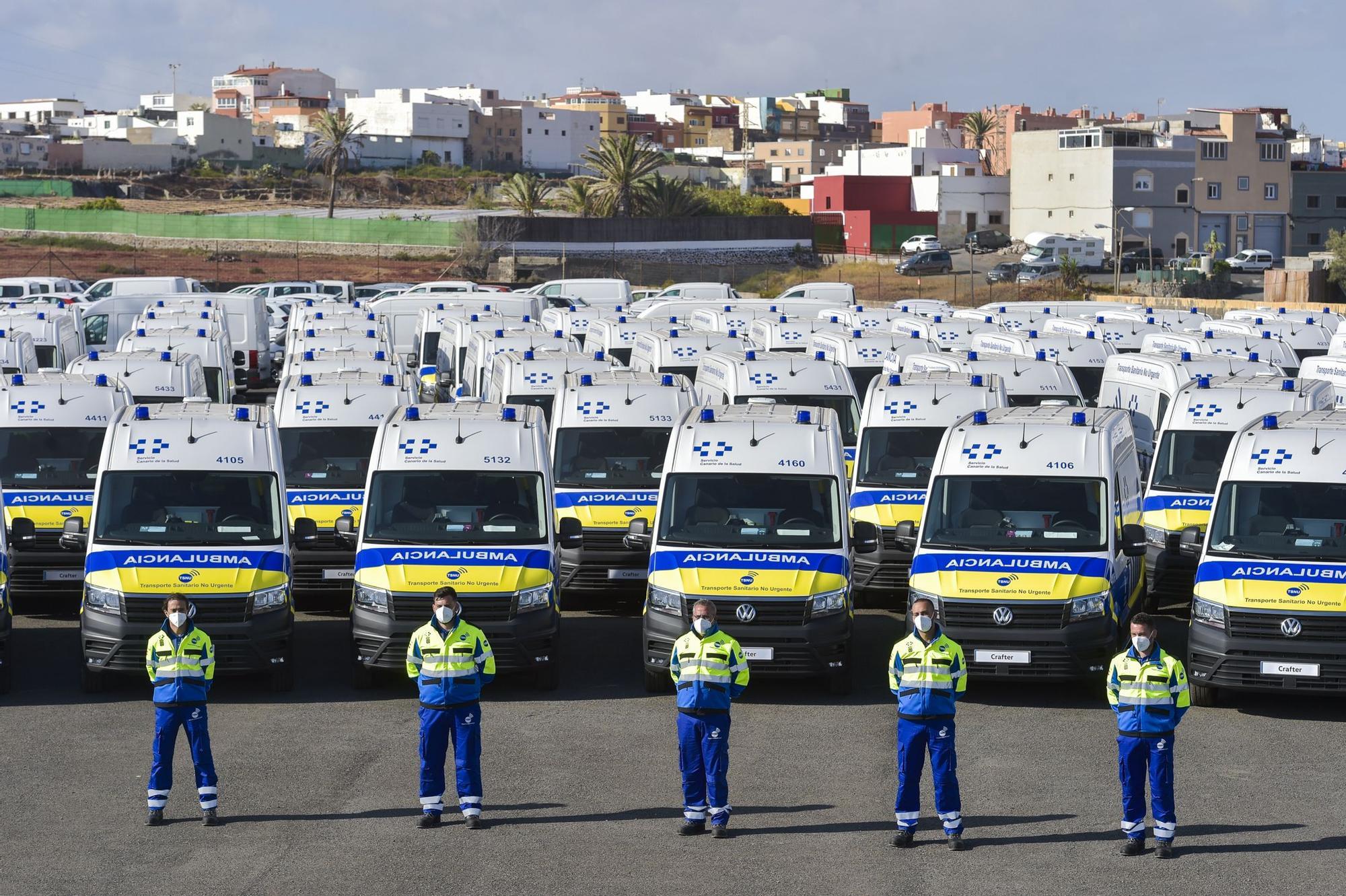 Presentación de nuevas ambulancias del transporte sanitario no urgente en Gran Canaria (5/06/2021)