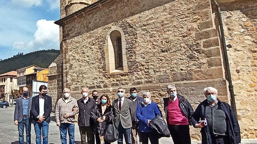 La colegiata de Salas, ya sin humedades, da paso al objetivo del plan para el mausoleo