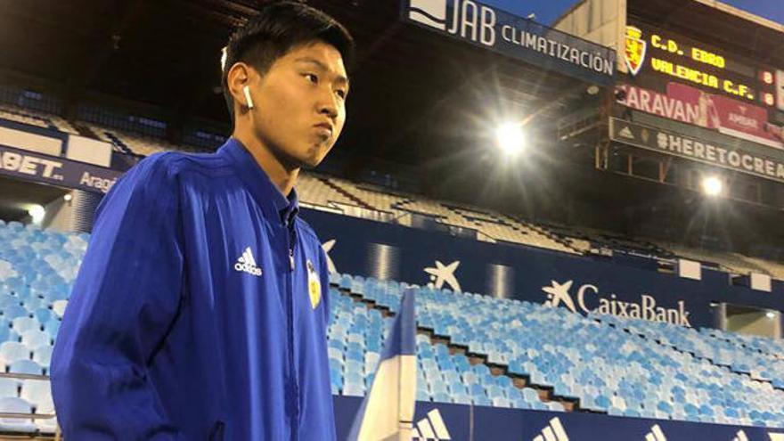 Kangin, el jugador extranjero más joven en debutar con el Valencia CF
