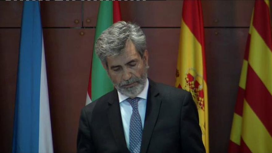"""El Rey, a Lesmes: """"Me hubiera gustado estar en Barcelona"""""""