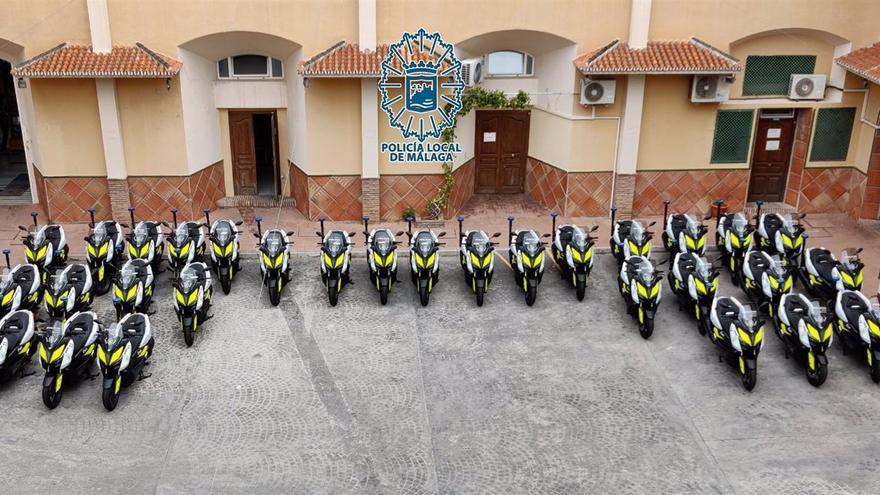 La Policía Local de Málaga renueva su flota de vehículos con la incorporación de 30 nuevas motocicletas
