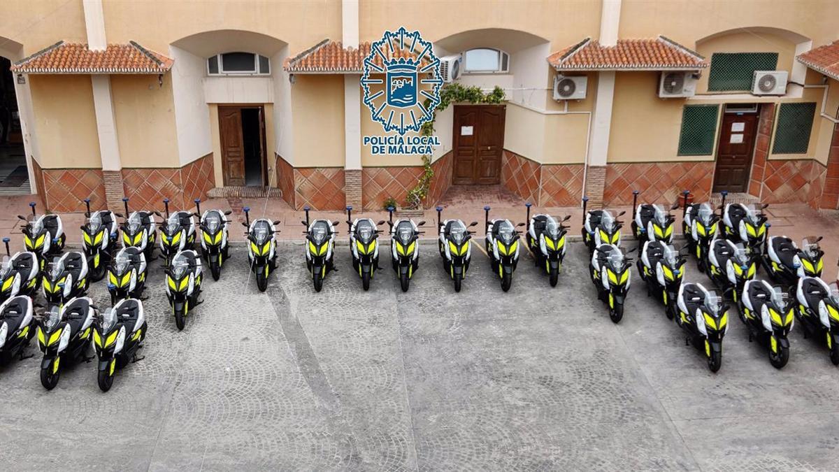 Nueva flota de motocicletas de la Policía Nacional de Málaga