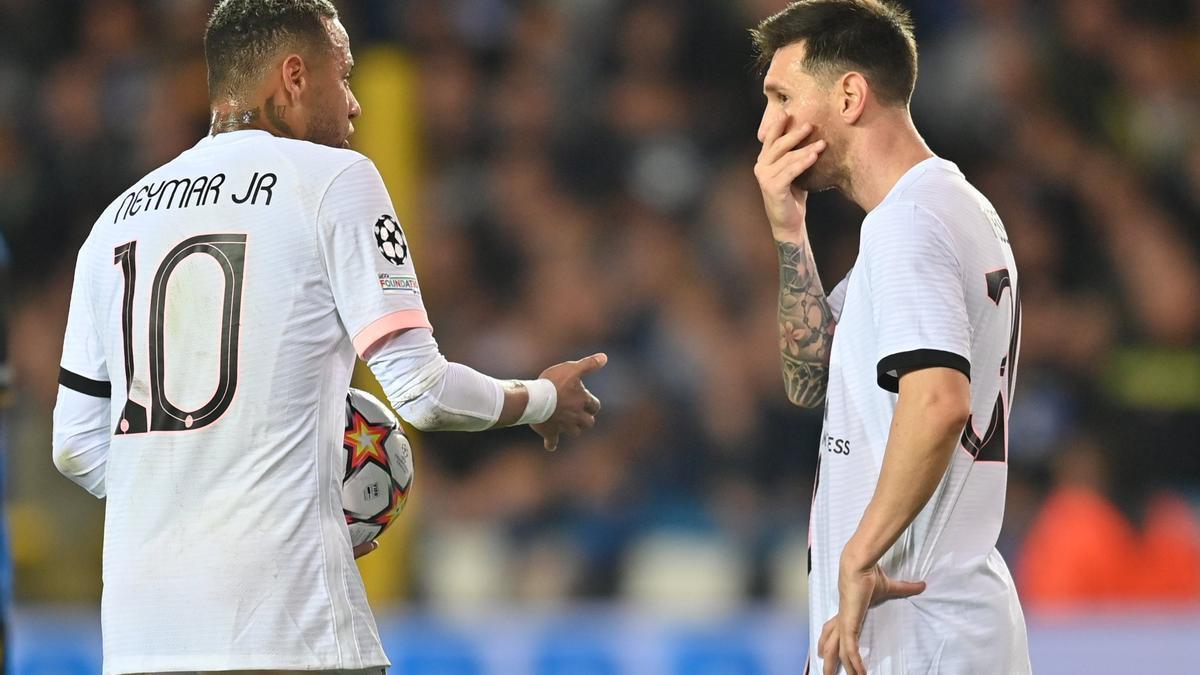 Neymar y Messi.
