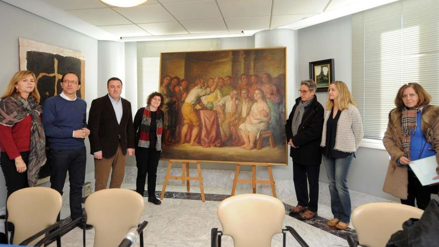 La Diputación cede un cuadro de Díaz Pardo al Museo de Belas Artes