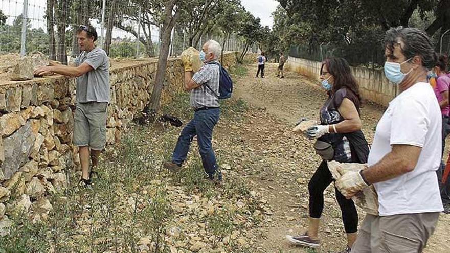 GADMA protesta por las obras hechas en un muro medieval de Binissalem