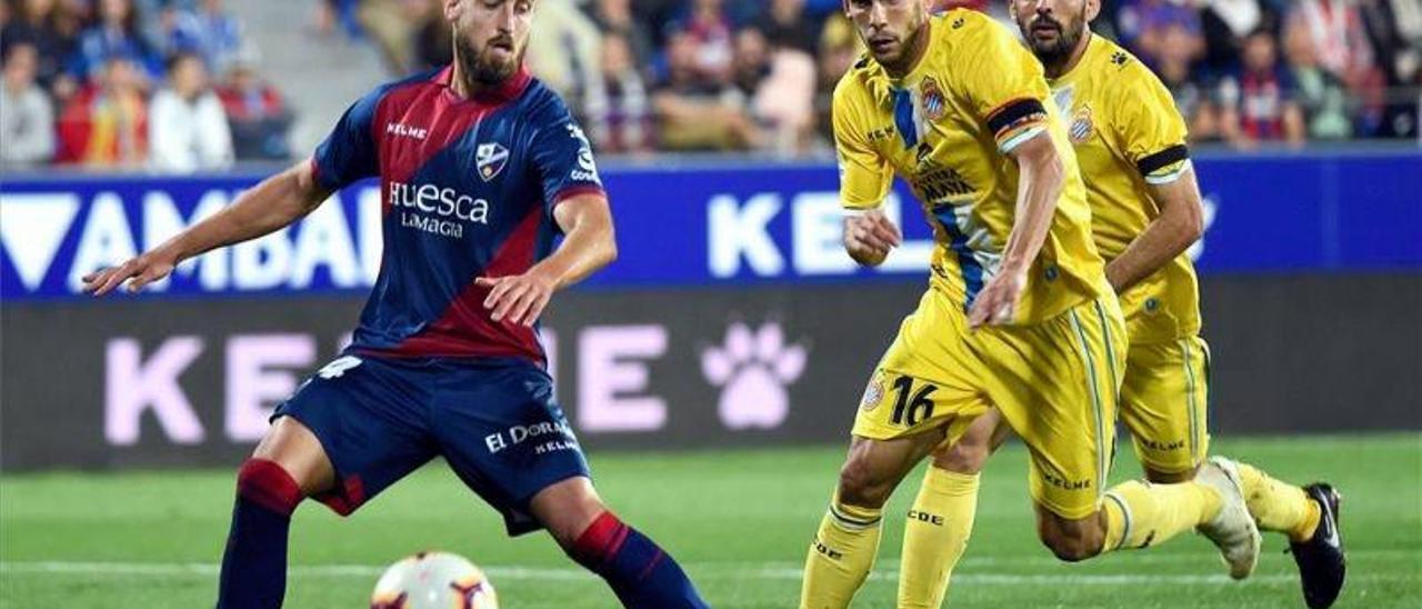 El SD Huesca contra el Espanyol