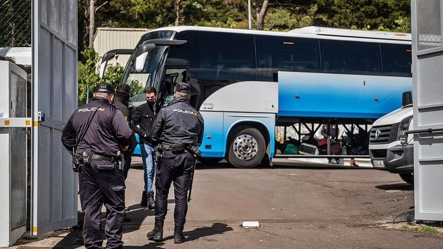 Nueve detenidos por una pelea en el campamento de Las Canteras