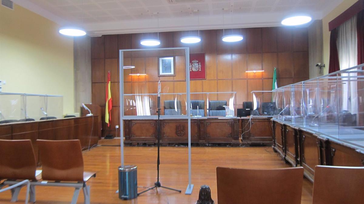 Sala de la Audiencia donde se ha celebrado la vista esta mañana