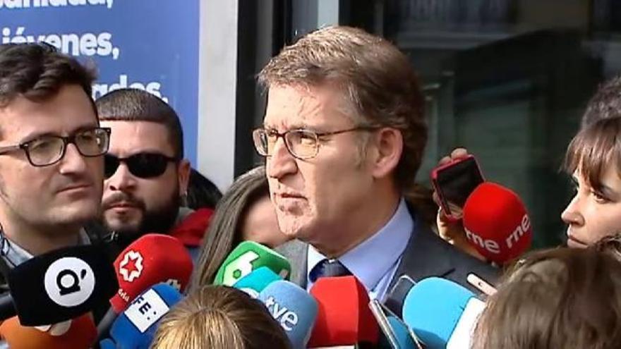 """Feijóo pide a Sánchez que """"piense muy bien"""" este preacuerdo con Podemos"""
