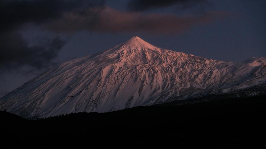 La nieve que dejó 'Filomena' en el Teide